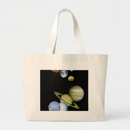 Panorama do planeta bolsas de lona