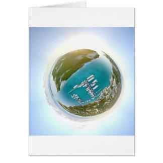 Panorama minúsculo do planeta dos turcos e do cartão