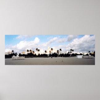 Panorama sul de Miami da praia Poster