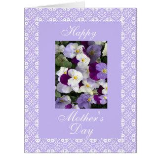 Pansies LG do dia das mães Cartão Comemorativo Grande