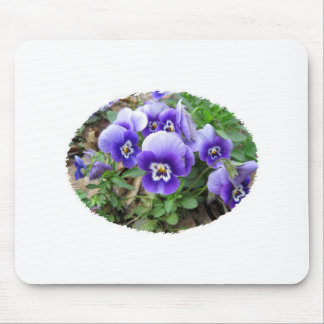 Pansies roxos mouse pad