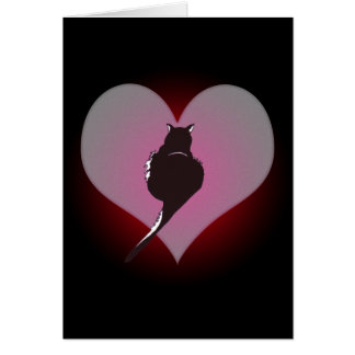 Pantera do gato preto meu cartão do coração