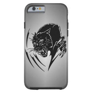 Pantera preta capa tough para iPhone 6