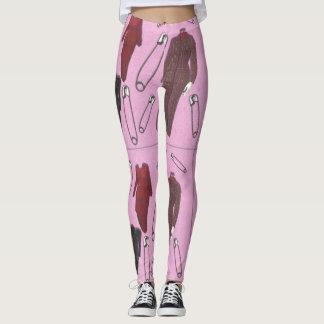 Pantsuits e pinos de segurança legging