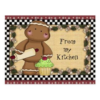 Pão-de-espécie de meu cartão da cozinha
