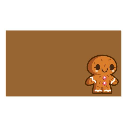 pão-de-espécie han do biscoito do gingerman cartao de visita