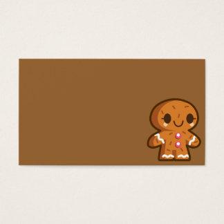 pão-de-espécie han do biscoito do gingerman cartão de visitas