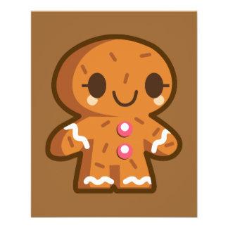 pão-de-espécie han do biscoito do gingerman panfleto personalizados