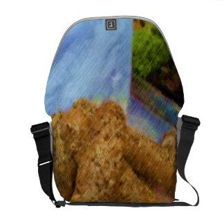 Pão do desenho da foto bolsa mensageiro