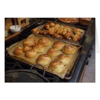 Pão fresco de cozimento, Notecard Cartão Comemorativo