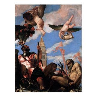 Paolo Veronese- Marte e Netuno Cartão Postal