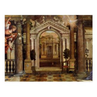 Paolo Veronese- o aviso Cartoes Postais