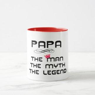 papá a caneca da ideia do presente do dia dos pais