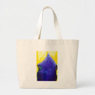 Papa azul de derretimento (surrealismo religioso) bolsas de lona