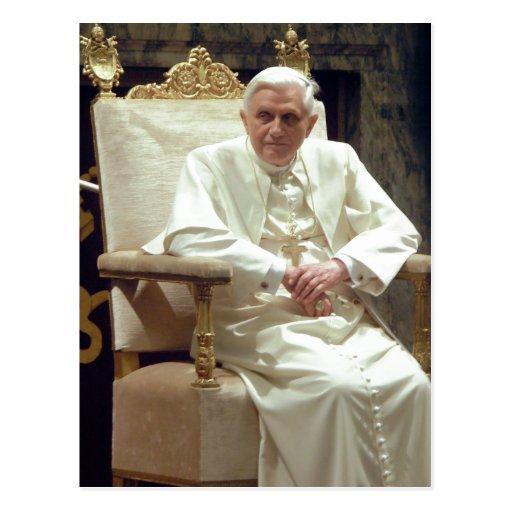 Papa Benedictus da descrição sumária XVI - alterad Cartao Postal