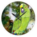 Papagaio amarelo de Cydney Naped Relógios De Pendurar