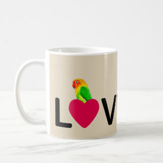 Papagaio do amor de Birdy da caneca de café
