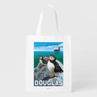 Papagaio-do-mar & navio de cruzeiros - Douglas, Sacola Ecológica