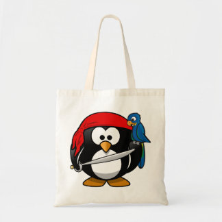 Papagaio do pinguim do pirata bolsa tote