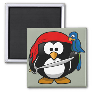 Papagaio do pinguim do pirata imã