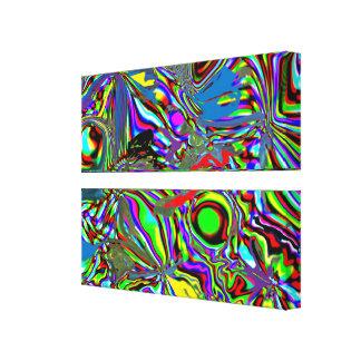 Papagaios canvas de uma dimensão alternativa impressão em tela canvas