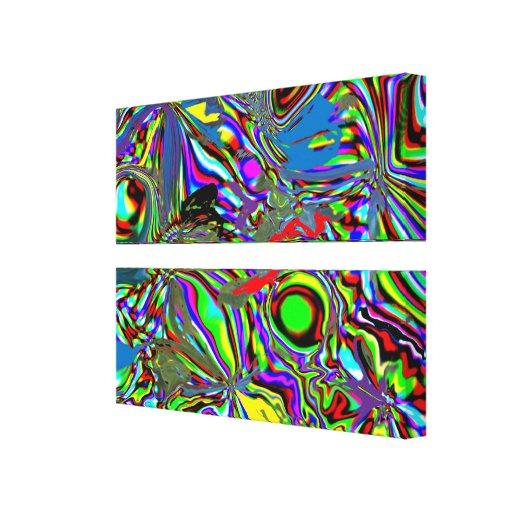 """""""Papagaios canvas de uma dimensão alternativa"""" Impressão Em Tela Canvas"""