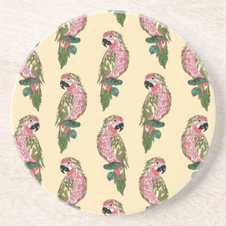 Papagaios do estilo de Zentangle Porta Copos De Arenito