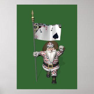 Papai Noel ama jogar o póquer Pôster
