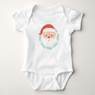 Papai Noel bonito enfrenta o bebê ch Body Para Bebê