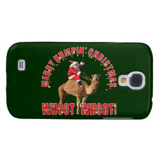 Papai noel & camelo alegres do Natal de Humpin Galaxy S4 Cover