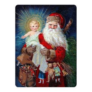 Papai Noel com criança do cristo Convite 16.51 X 22.22cm