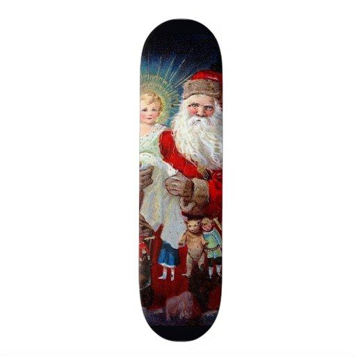 Papai Noel com criança do cristo Skate Personalizado