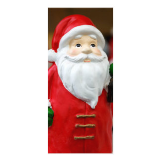Papai Noel com uma decoração do Natal da lanterna 10.16 X 22.86cm Panfleto