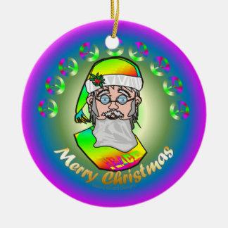 Papai noel de TieDye Enfeites De Natal