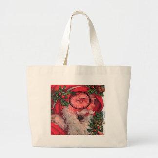 Papai noel do Natal - customizável Bolsa De Lona