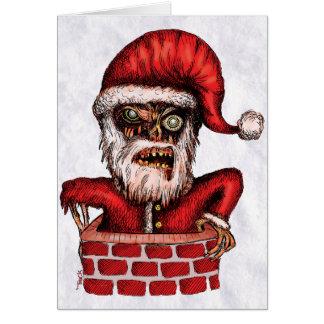 Papai noel do zombi - cartão