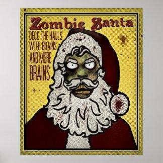Papai noel do zombi pôster