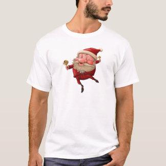 Papai Noel e a dança do sino Camiseta