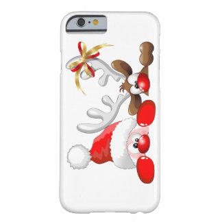Papai noel e caso engraçados do iPhone 6 dos Capa Barely There Para iPhone 6
