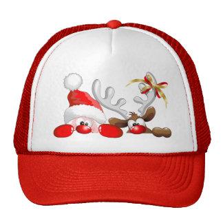 Papai noel e chapéu engraçados dos desenhos animad boné