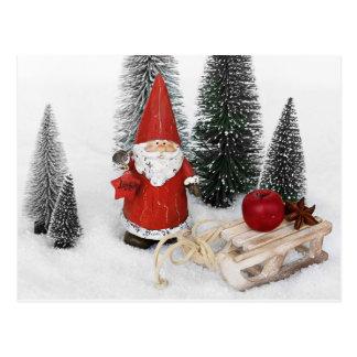 Papai Noel e o cartão do trenó