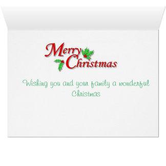 Papai Noel e seu cartão de Natal das doninhas