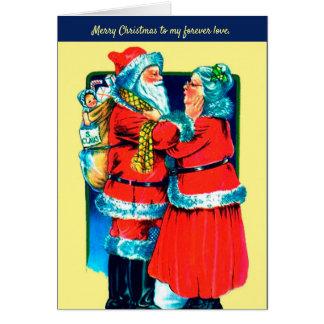 Papai noel e Sra. Claus Cartão para seu amor