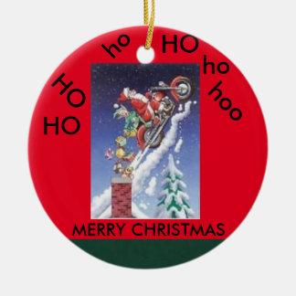 Papai noel em um ornamento do círculo do Natal da