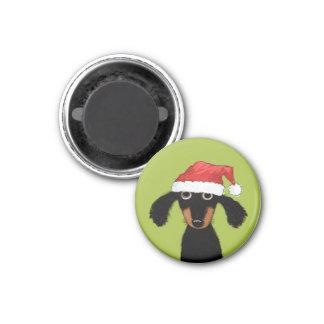 Papai noel engraçado do cão do Wiener Ima
