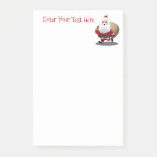 Papai Noel feliz com um cheio do saco dos Bloquinho De Notas