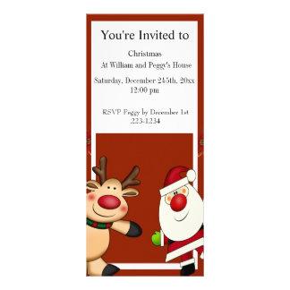 Papai noel & feriado do Natal da rena 10.16 X 22.86cm Panfleto