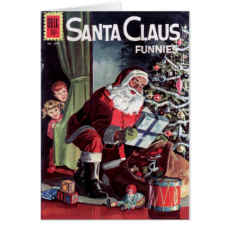 Papai Noel Funnies Cartoes