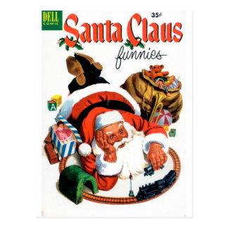 Papai Noel Funnies - grupo do trem Cartões Postais
