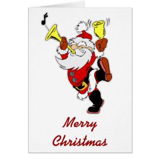 Papai Noel musical Cartão